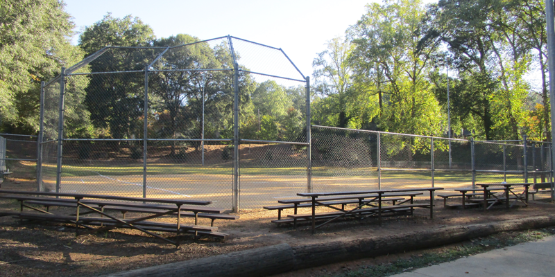 baseball field at North Main Rotary Park