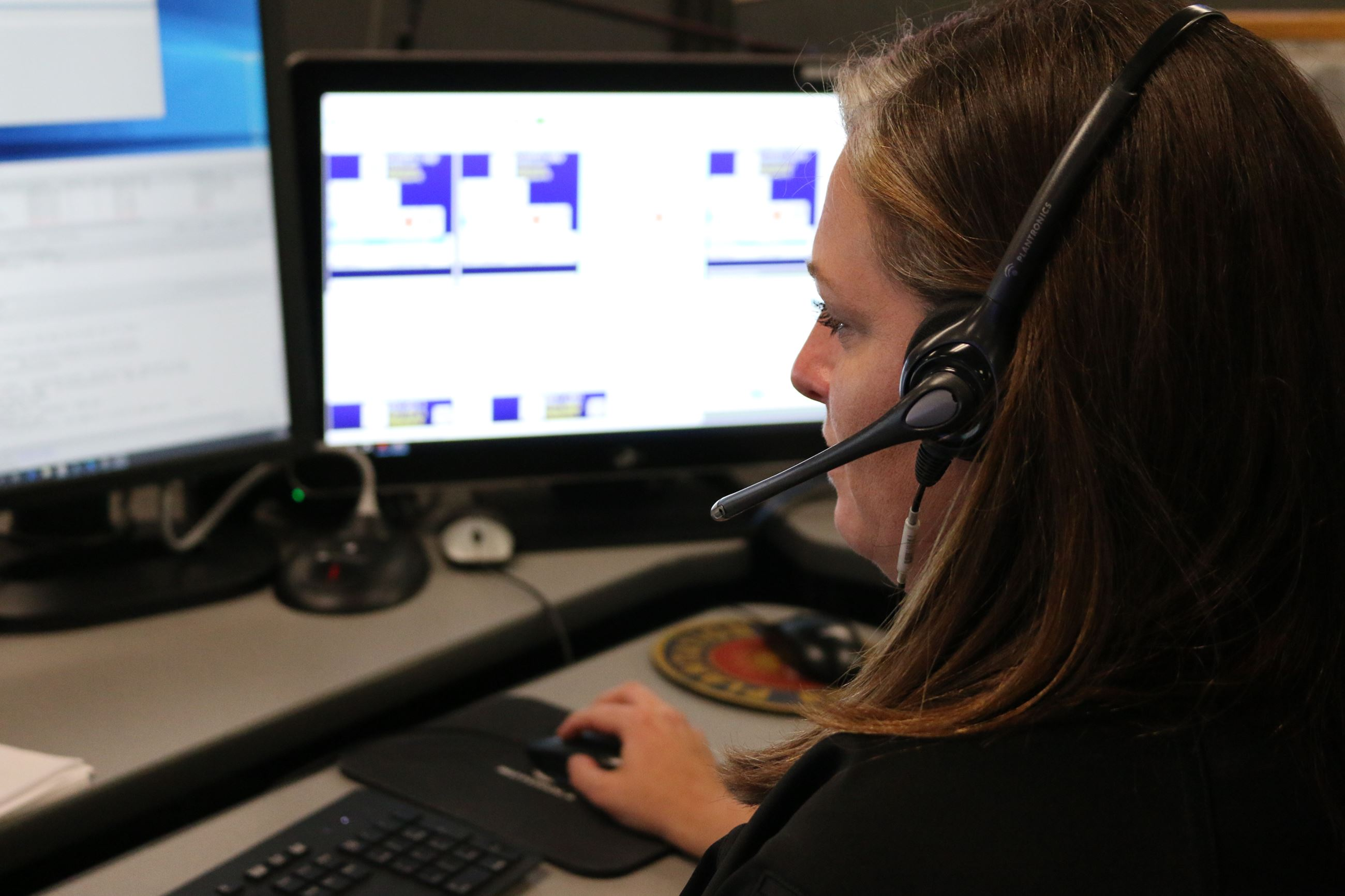 GPD dispatcher answers emergency call.