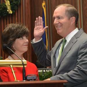 Mayor Knox White, at his 2015 swearing-in ceremony