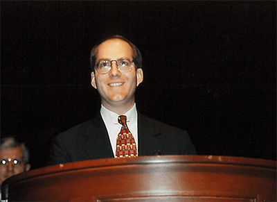 Mayor Knox White at his first swearing-in ceremony as mayor, December 11, 1995.