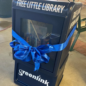 Photo of Greenlink's Little Library display