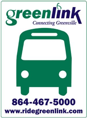 greenlink bus stop sign